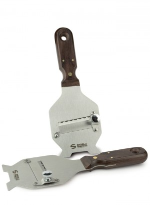 Truffle slicer with wood handle